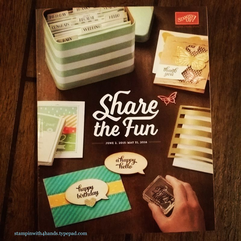 New catalog front stampin up