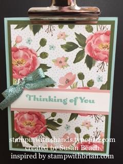Bingo floral card